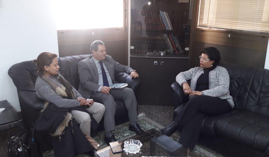 محور اجتماع نقيب الصحفيين بالمديرة العامة لوكالة تونس افريقيا للانباء00002